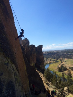 Sport clmibing at Smith Rock, OR